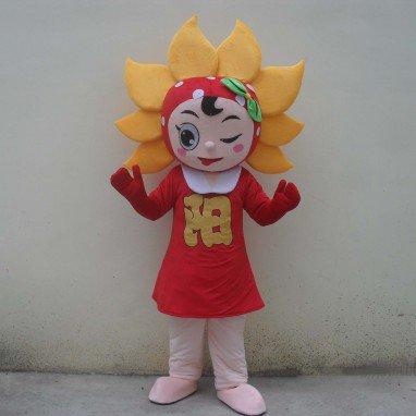 Cartoon Doll Clothing Plant Sunflower Cartoon Walking Doll Clothing Cartoon Show Clothing Doll Clothes Sunflowers Mascot Costume