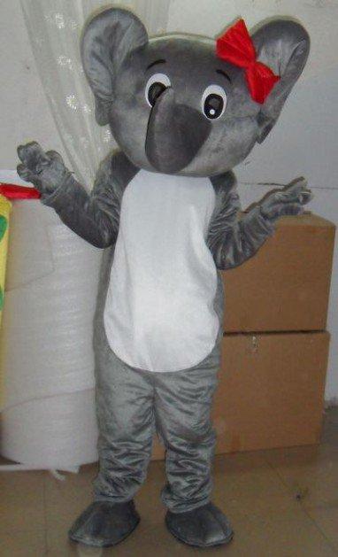 Cartoon Doll Clothing Cartoon Costumes Plush Dolls Bulk of Small Gray Elephant Costume Mascot Costume