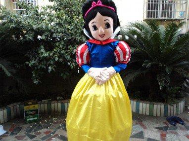 Adult Snow White Costume Snow White Walking Cartoon Dolls Plush Toys Clothes Mascot Costume