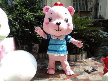 Cheerleader Bear Clothes People Wear Cartoon Dolls Advertising Clothing Performance Props Dress Up Doll Cute Bear Mascot Costume