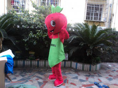 Fruit Series Apple Cartoon Doll Convince Walking Cartoon Dolls Wear Performance Clothing Stage Props Mascot Costume