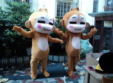 Hiphop Performing Monkey Plush Toy Doll Clothing Props Dress Hiphop Monkey Cartoon Dolls Clothing Mascot Costume