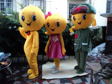 Lucky Cartoon Doll Baby Dolls Adult Costume Soldiers Walking Clothes Mascot Costume
