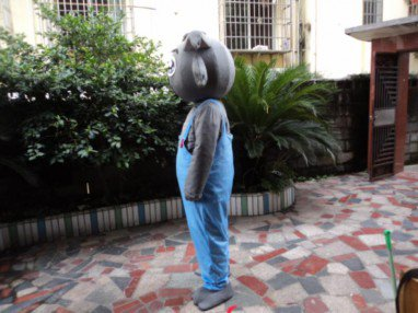 Pleasant Wolf Series Adult Walking Cartoon Doll Clothing Apparel Small Gray Mascot Costume