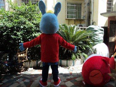 Plush Toy Bunny Cartoon Dolls Clothing Walking Cartoon Doll Clothing Cartoon Doll Performances Props Mascot Costume