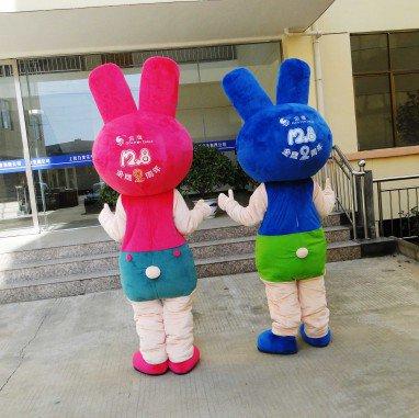 Rabbit Cartoon Doll Doll Clothing Cartoon Show Clothing Walking Cartoon Mascot Dolls Mascot Costume