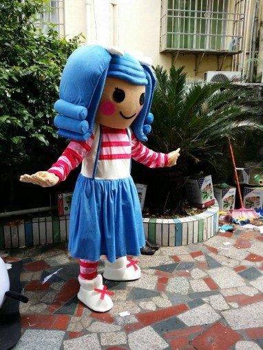 L Lalaloopsy Blue Hair Girl Cartoon Dolls Plush Dolls Doll Dress Clothes Mascot Costume