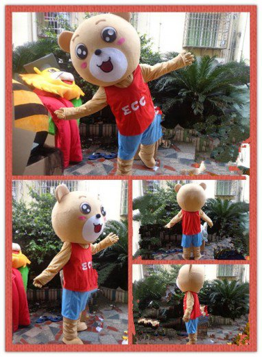 Bear Costume Cartoon Doll Clothing Cartoon Walking Doll Clothing Mascot Costume