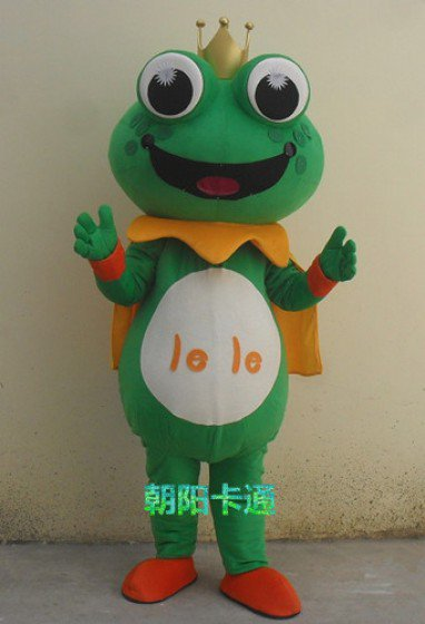 Frog Cartoon Dolls Clothes People Wear Cartoon Frog with Big Eyes Doll Clothes Walking Cartoon Doll Clothing Mascot Costume