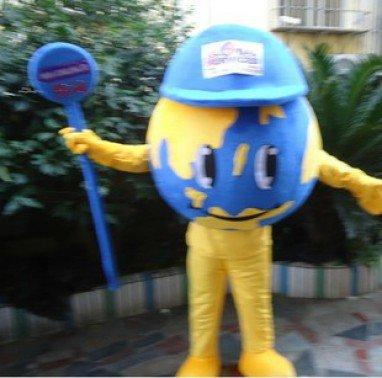 Globe Costume Dolls Plush Toys Globe Walking Cartoon Doll Clothing Mascot Costume