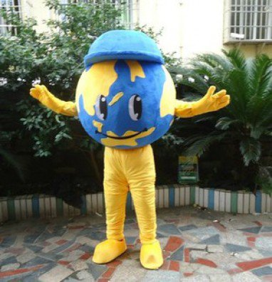 Globe Costume Dolls Plush Toys Globe Walking Cartoon Doll Clothing Mascot Costume