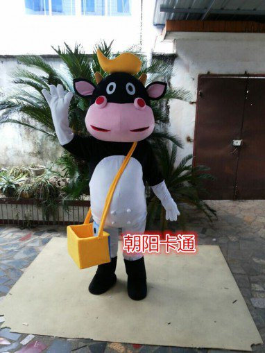 Bright Mouth Cow Cartoon Doll Clothing Cartoon Dolls Clothing Walking Cartoon Doll Cartoon Cow Mascot Costume
