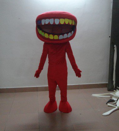 Cartoon Doll Clothing Cartoon Costumes Stage Performance Apparel Clothing Dental Mouth To Map Mascot Costume