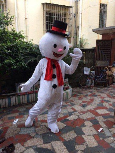 Cartoon Doll Doll Doll Dress Performance Props Dress Walking Snowman Cartoon Doll Clothing To Map Mascot Costume