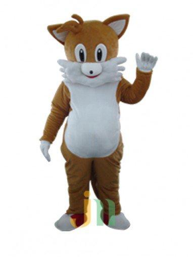 Brown Cartoon Cat Walking Doll Doll Cartoon Clothing Sets Head Brown Cat Mascot Costume