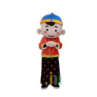 Lucky Boy Male and Female Cartoon Child Colorful Decoration Doll Clothing Sets New Mascot Head Holiday Mascot Costume