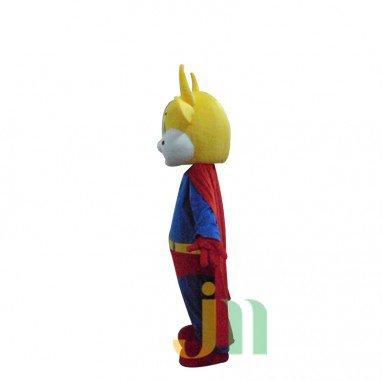 Superman Cartoon Cow Walking Doll Clothing Doll Cartoon Cow Suit Superman Doll Mascot Costume