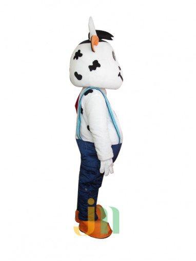 Cartoon Doll Clothing Walking Ferrule Light Blue Strap Decorated Mengniu Doll Clothing Cartoon Events Mascot Costume