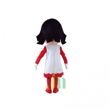 Cartoon Red White Woman Doll Cartoon Walking Doll Clothing Hedging Mascot Costume