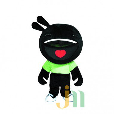 Peas Rabbit Doll Cartoon Clothing Cartoon Walking Doll Hedging Rabbit Peas Mascot Costume