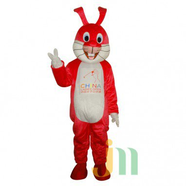 Red Rabbit Cartoon Walking Doll Clothing Doll Cartoon Mother Hedging Red Rabbit Mother Mascot Costume