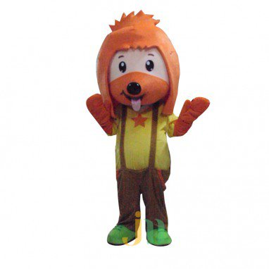 Yellow Dog Cartoon Doll Cartoon Walking Doll Clothing Hedging Yellow Dog Mascot Costume