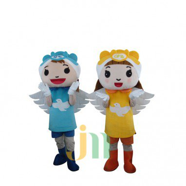 Angel Doll Cartoon Clothing Cartoon Walking Doll Hedging Lovely Angel Mascot Costume
