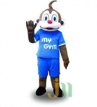Cartoon Blue Monkey Doll Cartoon Walking Doll Clothing Hedging Blue Monkey Mascot Costume