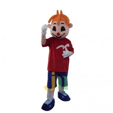 Cartoon Red Nose Boy Doll Cartoon Walking Doll Clothing Ferrule Red Nose Boy Mascot Costume
