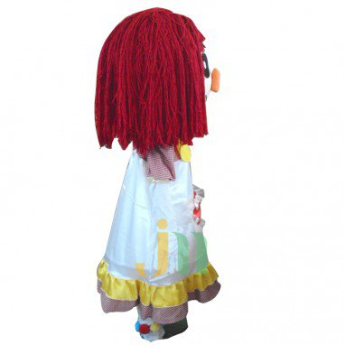 Cartoon Red Nose Girl Doll Cartoon Walking Doll Clothing Ferrule Red Nose Girl Mascot Costume
