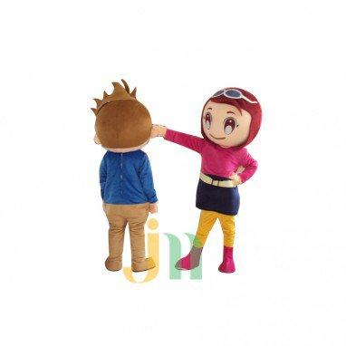 Doll Cartoon Clothing Cartoon Couple Walking Doll Hedging Cute Couple Mascot Costume