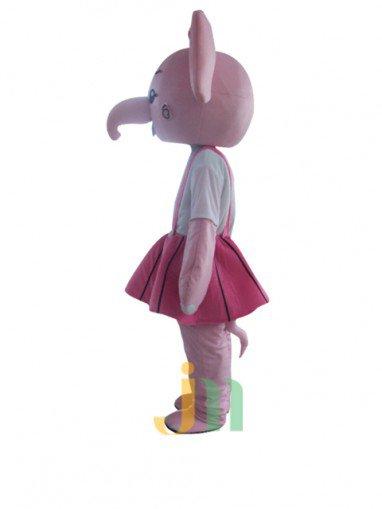 Even As The Woman Cartoon Couple Walking Doll Cartoon Clothing Couple Elephant Female Ferrule Mascot Costume