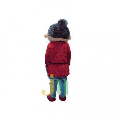 Old Platinum Doll Cartoon Clothing Cartoon Walking Doll Hedging Old Gold Mascot Costume