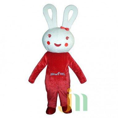 Red Rabbit Doll Cartoon Clothing Cartoon Walking Doll Hedging Red Rabbit Mascot Costume