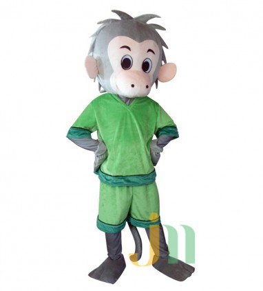 The Green Monkey Kung Fu Cartoon Doll Cartoon Walking Doll Clothing Hedging Monkey Mascot Costume