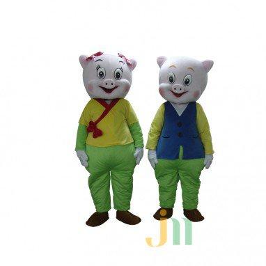 Cartoon Pig Men and Women Walking Doll Doll Cartoon Clothing Suits For Men and Women Pig Dolls Mascot Costume