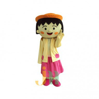 Chibi Maruko Japanese Popular Anime Cartoon Dolls Clothing Walking Suits Lifelike Lovely Pellets Mascot Costume