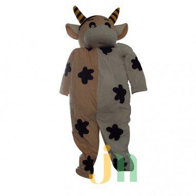 Great Fresh Cow Cartoon Doll Cartoon Walking Doll Clothing Suits Big Fresh Cow Puppet Mascot Costume