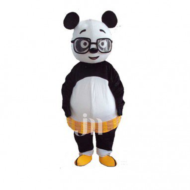Teacher Cartoon Panda Walking Doll Doll Cartoon Clothing Sets Panda Head Teacher Mascot Costume