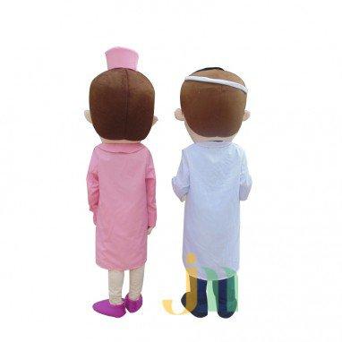 Cartoon Doll Doctor Nurse Walking Doll Cartoon Clothing Sets Head Nurse Doctors Mascot Costume
