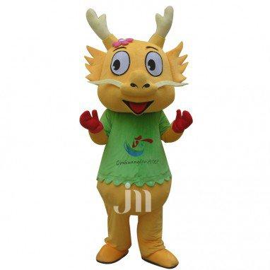 Cartoon Chinese Dragon Doll Cartoon Walking Doll Clothing Sets Lovely Chinese Dragon Doll Mascot Costume