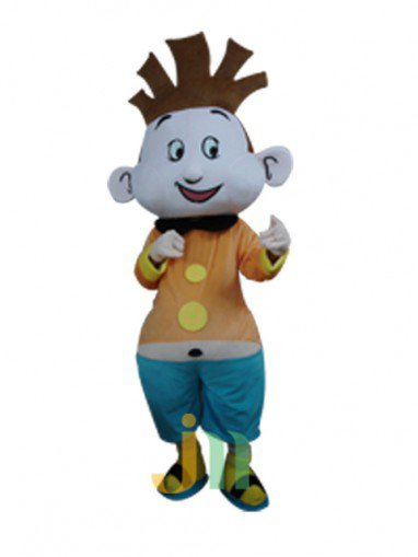 Cartoon Doll Clothing Handsome Little Boy Walking Hedging Animation Activities Decorative Doll Clothing Mascot Costume