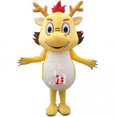 Cute Cartoon Chinese Dragon Even Walking Doll Cartoon Clothing Sets Cute Longbao Mascot Costume