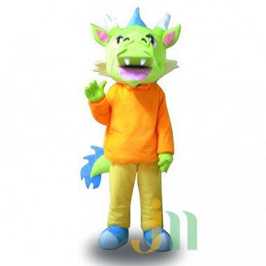 Fan Dragon Cartoon Doll Cartoon Walking Doll Clothing Hedging Fan Long Mascot Costume
