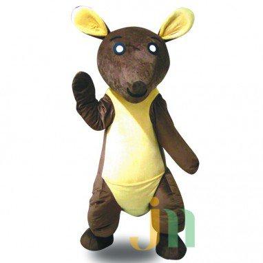Grey Kangaroo Cartoon Doll Cartoon Walking Doll Clothing Hedging Grey Kangaroo Mascot Costume