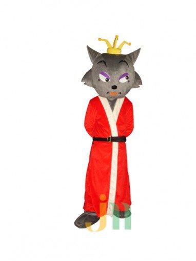 Red Wolf Cartoon Doll Cartoon Walking Doll Clothing Taohong Wolf Doll Mascot Costume