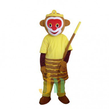 Chinese Animated Cartoon Clothing Walking Doll Monkey Doll Hedging Monkey Journey To The West Mascot Costume