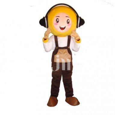 Dj Cute Cartoon Man Even Walking Doll Cartoon Clothing Sets Cute Dj M Mascot Costume