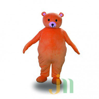 Orange Bear Cartoon Doll Cartoon Walking Doll Clothing Hedging Orange Bear Mascot Costume