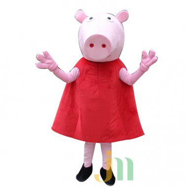 Red Cartoon Pig Cartoon Dolls Clothing Walking Doll Hedging Red Piggy Mascot Costume